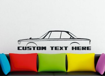 "Large Custom car silhouette wall sticker - for BMW 2000C / CS ""new class"" coupe 1965-1969 